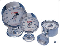 Chicago Stainless Equipment – temperature and pressure instrumentation.