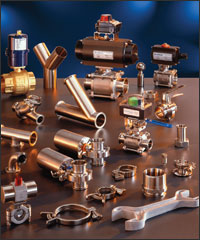 Bradford fittings, Bradford valves, sanitary pumps